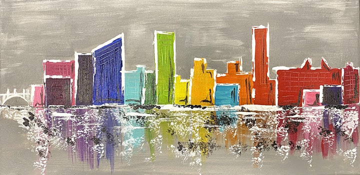 Paint Night @ Ironhand Winery: South Bend Skyline image