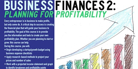 Business Finance 2: Planning for Profitability_DreamCenterVirtual_3/18/21 tickets