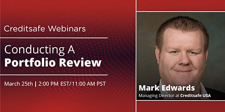 Webinar: Conducting A Portfolio Review tickets