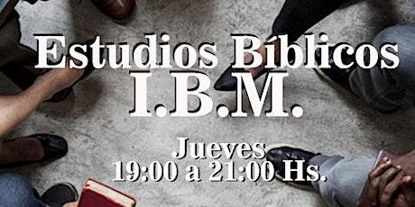 Estudios Bíblicos I.B.M entradas