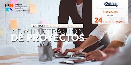Curso Introducción a la Administración de Proyectos boletos