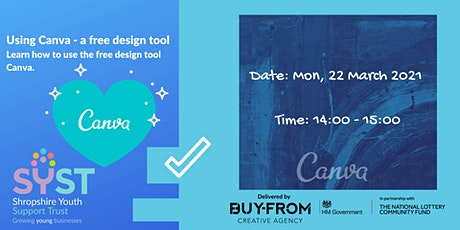 Using Canva - a free design tool tickets