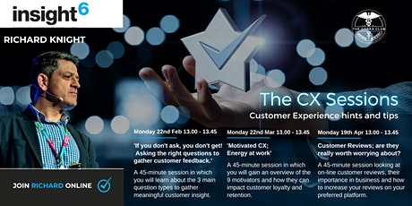 The Customer Experience Sessions - insight6 Wiltshire, Dorset & South West bilhetes