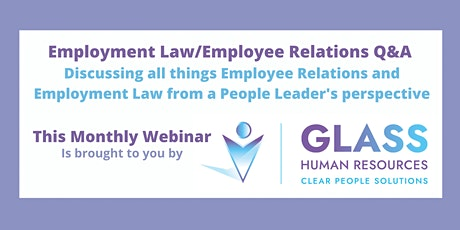 Employee Relations/Employment Law Webinar bilhetes