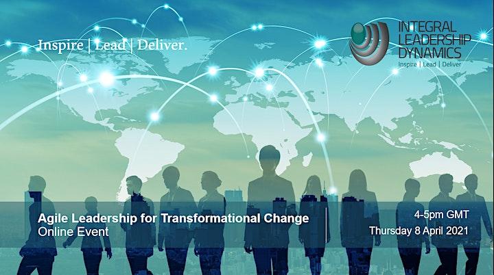 Agile Leadership for Transformational Change Online Event image