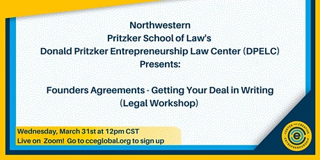 Founders Agreements - Getting Your Deal in Writing (Legal Workshop tickets