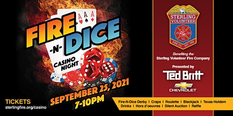 Fire-N-Dice Casino Night - NEW DATE 9/25/2021 - Presented by Ted Britt Chev tickets