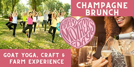 Mother's Day Goat Yoga & Farm Life Experience with Champagne tickets