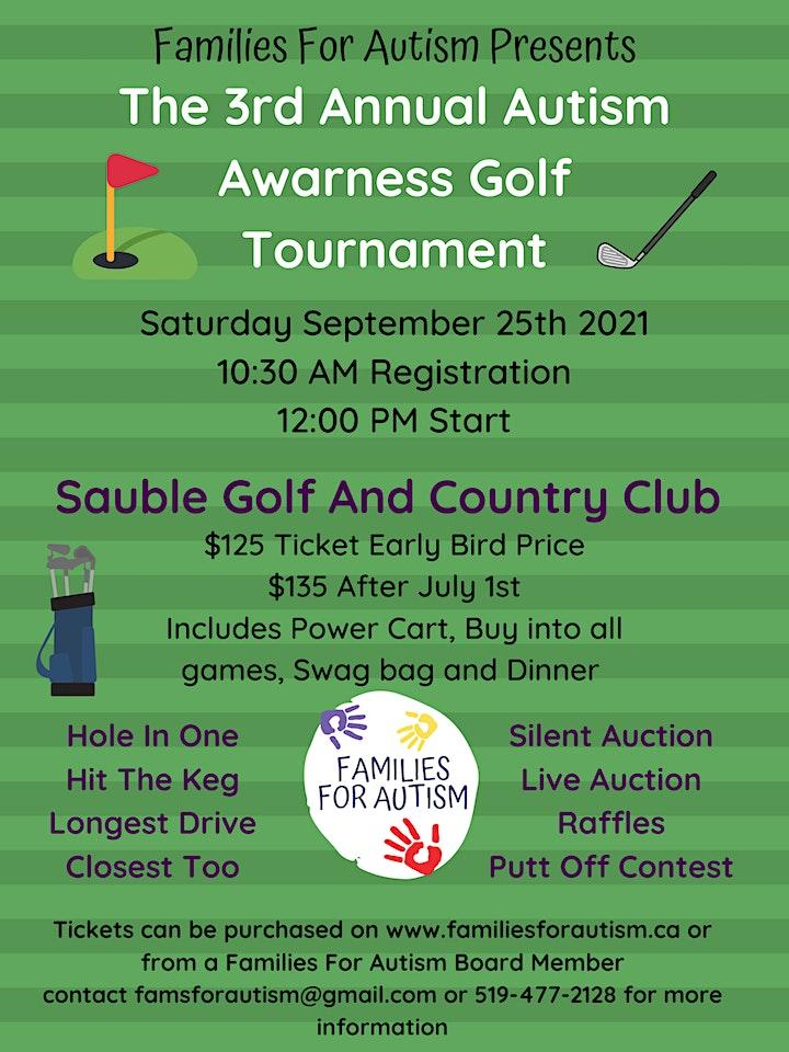 Autism Awareness Golf Tournament 2021 image