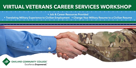 Veterans Career Services Virtual Workshop tickets