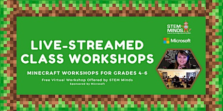 Free! Minecraft Classroom Workshops for Grades 4-6 Tickets