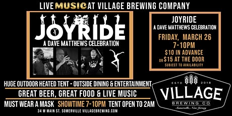 JOYRIDE:  Dave Matthews Band Celebration @Village Brewing Company tickets