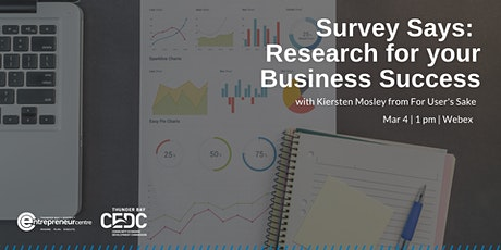 Survey Says: Research for your Business Success tickets