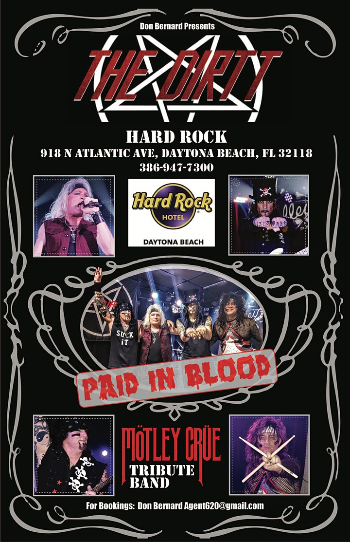 ROCK THE BEACH - SPRING TRIBUTE BAND SERIES - A Tribute to Motley Crue image