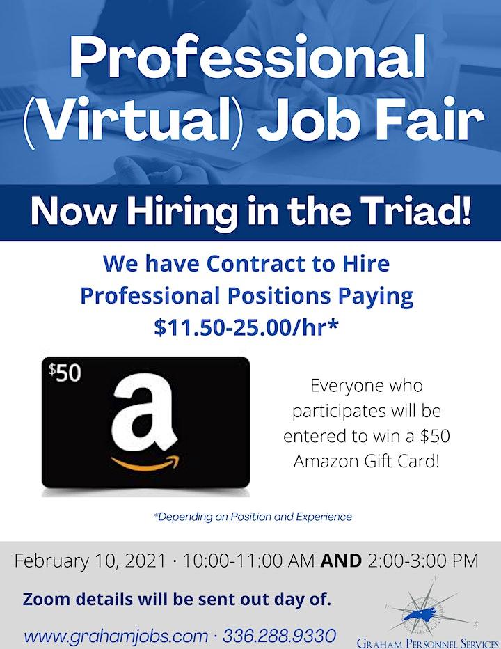 Virtual Professional Job Fair (Morning) image