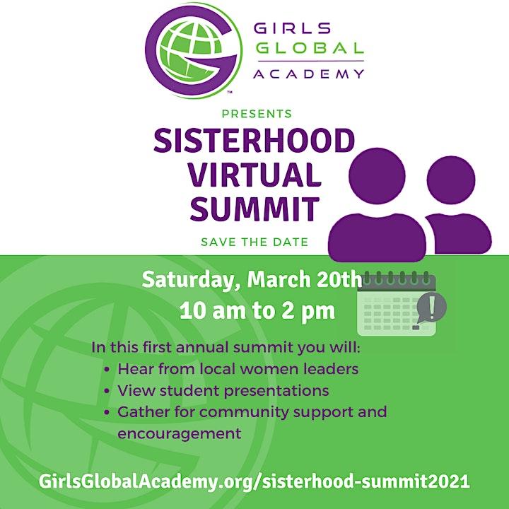 1st Annual Sisterhood Summit image