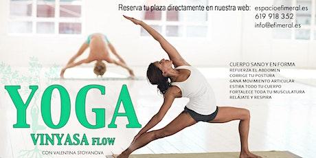 Clases de yoga vinyasa en Espacio Efimeral tickets
