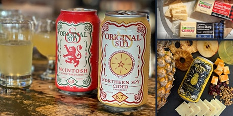 ORIGINAL SIN HARD CIDER & CABOT CHEESE:  Virtual Tasting Special Event tickets
