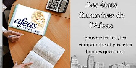 États financiers Afeas : les comprendre et poser les bonnes questions billets