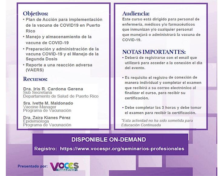Curso Extendido   Manejo y Administración de la Vacuna de COVID-19 image