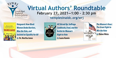 Temple Sinai, Washington, DC - WRJ - Authors' Roundtable, Sat., 2/27/ 2021 tickets