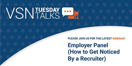 VSN Tuesday Talks - Employer Panel tickets