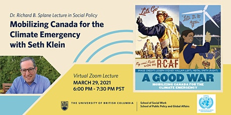 Splane Lecture: Mobilizing Canada for the Climate Emergency with Seth Klein tickets