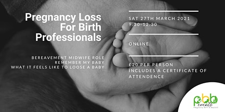 PBB Events - Pregnancy Loss  Study Morning For Birth Professionals tickets