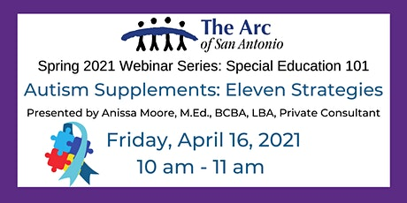 Special Education 101: Autism Supplements tickets