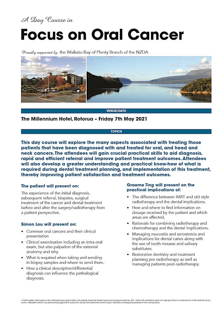 WBOP NZDA 2021 Day Course - Focus on Oral Cancer image