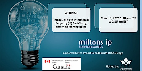Introduction to Intellectual Property IP for Mining and Mineral Processing tickets
