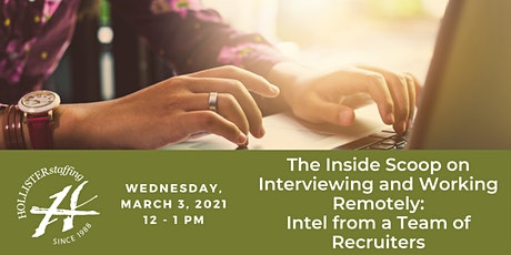The Inside Scoop on Interviewing and Working Remotely tickets