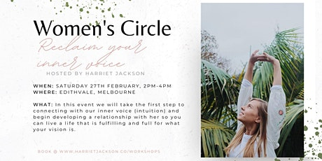 Women's Circle ~ Reclaim your inner voice tickets