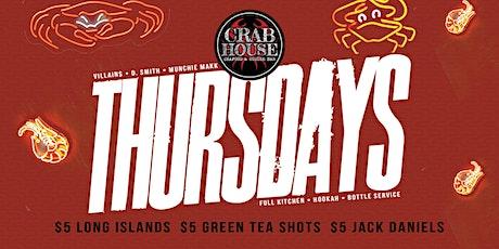 Crab House Thursdays tickets