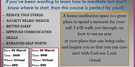 virtual Christian Meditation:  How to Focus Your Thoughts on God tickets