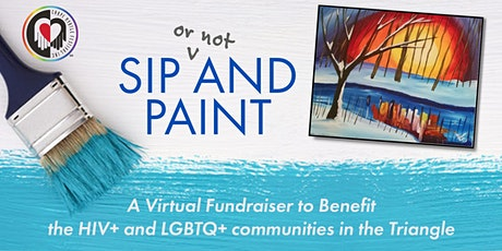 Sip and Paint Night: Virtual Paint Party tickets