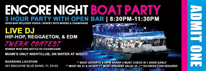 BOAT PARTY IN SOUTH BEACH TEXT EDDIE @ 786-346-8836  BEFORE YOU PURCHASE image