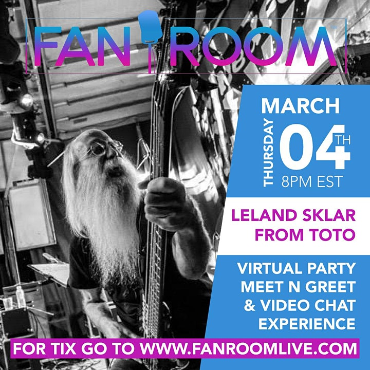 Leland Sklar from TOTO hosts FanRoom Live! image