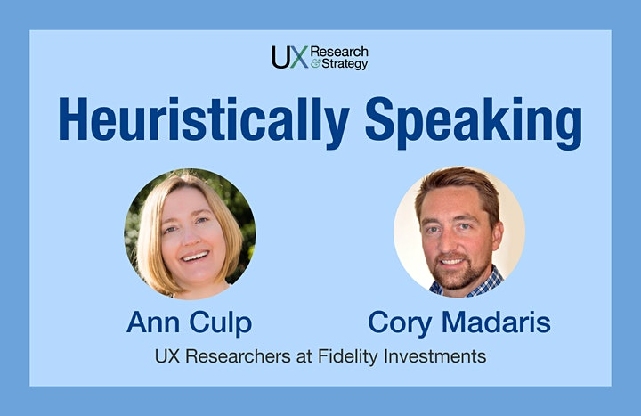 Heuristically Speaking: Learn this  UX research method from the pros image