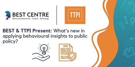 What's new in applying behavioural insights to public policy? tickets