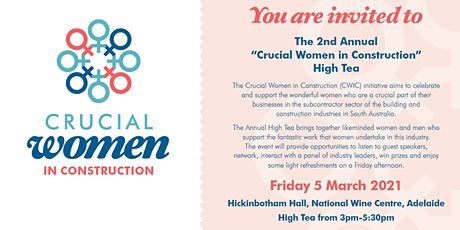 Crucial Women in Construction (CWIC) High Tea tickets
