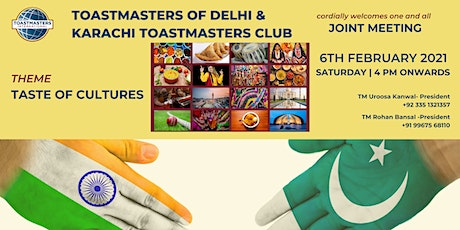 Toastmasters of Delhi & Karachi Toastmasters Club - Joint Meeting tickets