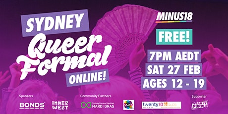 Minus18 Sydney Queer Formal® Online tickets