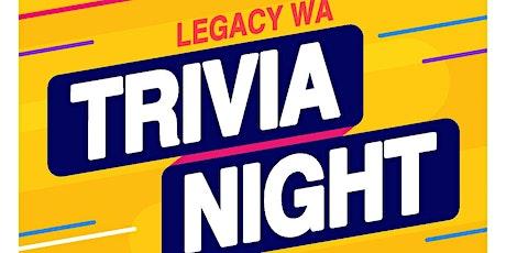 Legacy WA Trivia Night 2.0 tickets