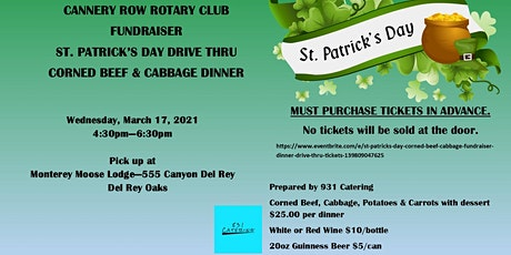 St. Patrick's Day Corned Beef & Cabbage Fundraiser Dinner - Drive Thru tickets