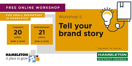 Tell your brand story tickets