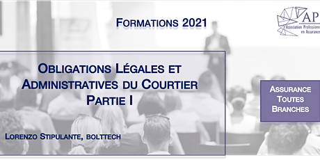 Obligations Légales et Administratives du Courtier Partie I tickets