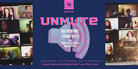 Unmute - an open mic night with poetry, stories and memoir tickets