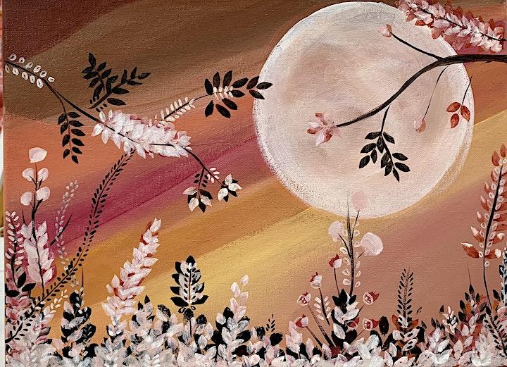 Sip & Paint  Summer Night - Acrylic image