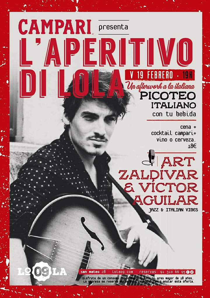 Imagen de L'Aperitivo di Lola - Art Zaldívar & Víctor Aguilar, jazz en vivo